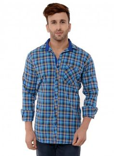 Buy Checked Brush Twill Casual Shirt Online at Low prices in India on Winsant  #shirts #casualshirt #mensfashion #fashionblogger #fashion #style #winsant #pinterestmarketing #pinterest Formal Shirts For Men, Online Shopping Websites, Trouser Jeans, Men Online, Green Shirt, Fabric Online, Workout Shirts, Flannel, Cotton Fabric