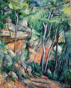 digitaler Kunstdruck: In the Park of Chateau Noir, c.1896-99 von Paul Cézanne