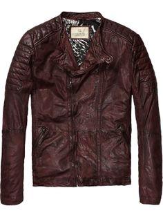 Biker jacket | Leather Jackets | Men Clothing at Scotch & Soda