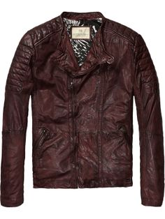 Biker jacket | Leather Jackets | Men Clothing at Scotch & Soda