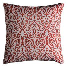 Rizzy Home Damask Burlap Throw Pillow, Orange