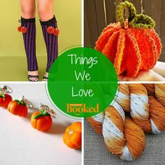 Things We Love - Happily Hooked (pattern for pumpkin scrubbie is free!)