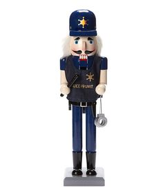 Take a look at this Police Nutcracker on zulily today!