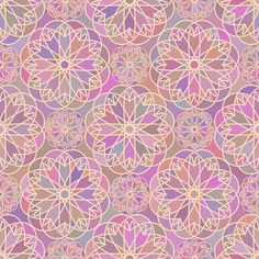Collection of seamless patterns with round ornaments on Behance