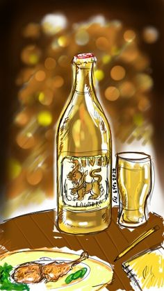 Singha Beer sketch  - info about Thailand and Koh Samui: http://islandinfokohsamui.com/