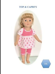 """Ravelry: Top & Capris 2 for 18"""" Dolls pattern by UNA HENDRY"""