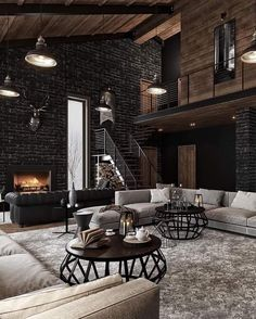 A warm evening, a quiet pleasant melody, twilight and an incredible feeling of comfort House interior Welcome to the lair of a seducer Dream Home Design, My Dream Home, Home Interior Design, House Design, Room Interior, Interior Ideas, Style At Home, Industrial House, Industrial Chic Decor