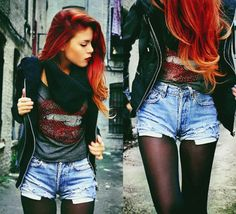 I wish my hair could get that red. And I wish my hunt for the right shorts would end.