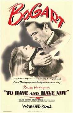 The first Bogie & Bacall film - classic film chemistry at its finest. Bacall said she was nervous in all her scenes with Bogart, you can't tell by watching this. ;)