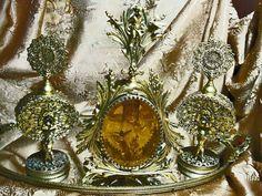 Vintage Gold Vanity Set