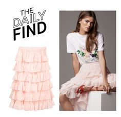 """The Daily Find: H&M Skirt"" by polyvore-editorial ❤ liked on Polyvore featuring DailyFind"