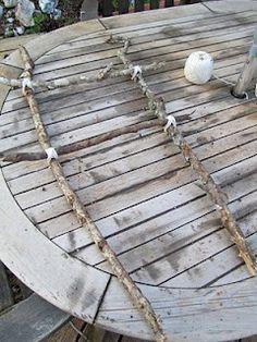 DIY Trellis from sticks!