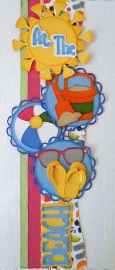 At The Beach Paper Piecing PreMade 4 Borders Scrapbooks Album danderson651