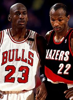 Michael Jordan - Bulls, Clyde Drexler - Trail Blazers