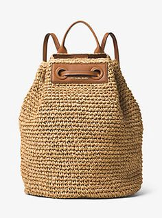 Krissy Large Straw Backpack by Michael Kors. My new goal...