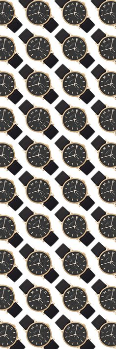 Marc by Marc Jacobs 36MM Black & Gold Strap Watch | Gift Guide