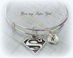 Friend Gift SuperGirl Personalized Bracelet by HopeisHipJewelry #jewelry