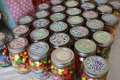 mason jar, candy favors!