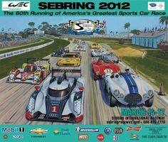 2012 Twelve Hours of Sebring Poster