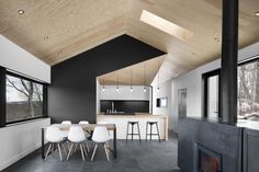 Bolton residence with a black accent kitchen