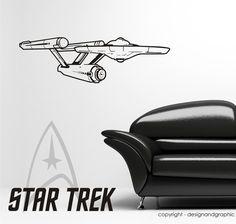 Star Trek Spaceship Enterprise vinyl wall sticker