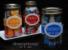 Gifts in a jar, pampering, refreshment and more