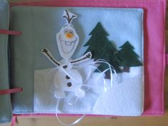 Olaf build a snowman page. Disney Princess Inspired Quiet Book | Mommy Imaginings