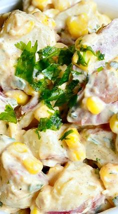 Chipotle ranch potato salad () tex-mex cuisine: pin your best! Ranch Potato Salad, Ranch Potatoes, Potato Pasta, Easy Potato Salad, Potato Dishes, Idaho Potatoes, Veggie Recipes, Mexican Food Recipes, Salad Recipes
