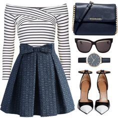 Striped Shirt by the-messiah on Polyvore featuring мода, Topshop, Chicwish, Givenchy, MICHAEL Michael Kors and Christian Dior