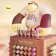 We offer Sun Bum lip balm in six flavors: key lime, coconut, banana, mango, pink guava, and pomegranate. Look for this SPF 30, cocoa butter-enhanced lip balm in the Sun Bum caddy. You can't miss it!
