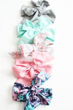 DIY baby bow headwrap