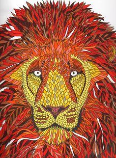 Mon lion - la ménagerie    the menagerie colouring book
