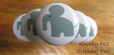 Elephant Drawer Knob  Dresser Pull  Nail Cover  Hand by KnobbyNis