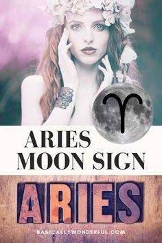 Aries Moon Sign, Capricorn And Aquarius, Zodiac Signs Astrology, Moon Signs, Ascendant Sign, Zodiac Characters, Negative Traits, Astrology Compatibility, Aries Woman