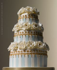 Wedding cake exclusively for Fortnum and Mason by Peggy Porshen