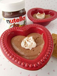 Nutella Mousse.  Control the amount of Nutella added by what your taste is.  I used Chip Ahoy Heath Cookies for the crust and it was delicious.