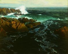 Eternal Surge Oil on canvas, c. 1921 34 x 45 inches Museum purchase with funds from prior gift of Lois Outerbridge California Art, California Travel, Impressionist Art, Impressionism, Edgar Payne, Master Studies, Seascape Art, Moving To Los Angeles, Outdoor Paint