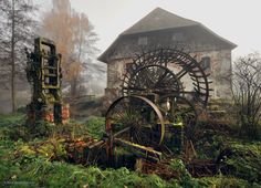 An abandoned, old mill in Germany.