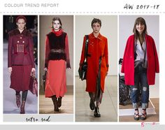 retro red color trend