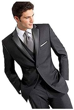 536c233c3f091b Check out our latest collection of Ike Behar Dark Gray Slim Fit Tuxedo  Notch Lapel Dark Grey Slim Fit.