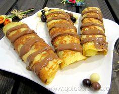 crepes rellenos de crema . Fácil receta casera, paso a paso.  http://www.golosolandia.com/2014/03/crepes.html