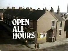 Ronnie Barker as Albert Arkwright. David Jason as Granville Arkwright. Lynda Baron as Nurse Gladys Emmanuel Barbara Flynn as The Milkwoman. Stephanie Cole as Mrs Featherstone British Tv Comedies, Classic Comedies, British Comedy, British Humour, Classic Films, Funny Tv Series, Ronnie Barker, Open All Hours, David Jason