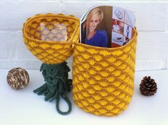 Crochet basket Pineapple unique gift mothers day by OlgaArtShop