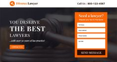 Download attorney and law landing page design templates to capture leads for your personal attorney website and your business law firm website on affordable price.
