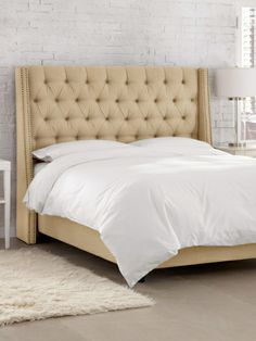 Nail Button Tufted Wingback Bed by Platinum Collection by SF Designs at Gilt