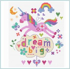 Thrilling Designing Your Own Cross Stitch Embroidery Patterns Ideas. Exhilarating Designing Your Own Cross Stitch Embroidery Patterns Ideas. Mini Cross Stitch, Modern Cross Stitch, Cross Stitch Kits, Cross Stitch Charts, Cross Stitch Designs, Unicorn Cross Stitch Pattern, Baby Cross Stitch Patterns, Unicorn Pattern, Cross Stitching