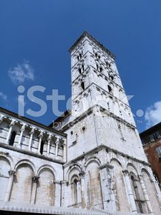 Bell tower of San Michele in Foro, Lucca royalty-free stock photo