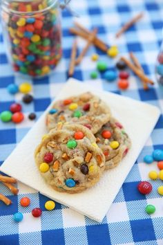Salted Peanut Butter Pretzel MM Cookies