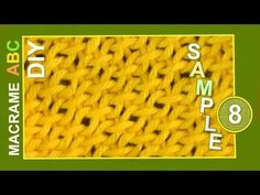 Macrame ABC - pattern sample #8 - YouTube
