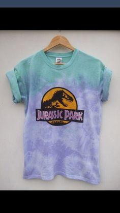 purple shirt tiy diy jurassic park blue shirt